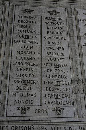Charles Louis Dieudonné Grandjean - Grandjean is the last name under Column 16
