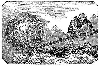 Virtual work - This is an engraving from Mechanics Magazine published in London in 1824.
