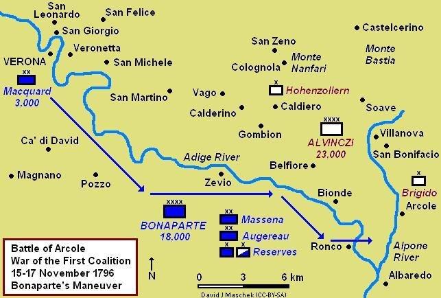 Arcole 1796 Campaign Map