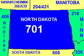 Area code 701 - Image: Area code ND