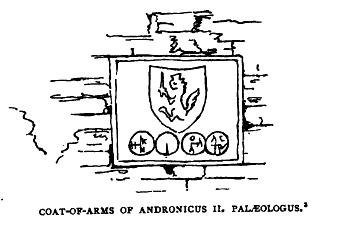 Arms of Andronikos II Palaiologos (Millingen)