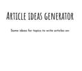 Article ideas generator demo app screenshot (1).png