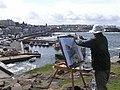 Artist at work, Portstewart - geograph.org.uk - 529609.jpg