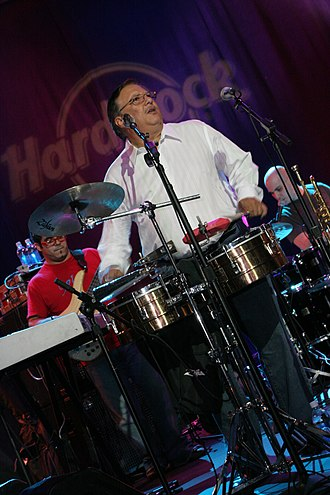 Timbales - Arturo Sandoval on timbales at the Hard Rock Cafe, Times Square.