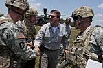 Ashton Carter greeting 101st Airborne soldiers while visiting exercise at Fort Campbell 120620-D-TT977-126.jpg