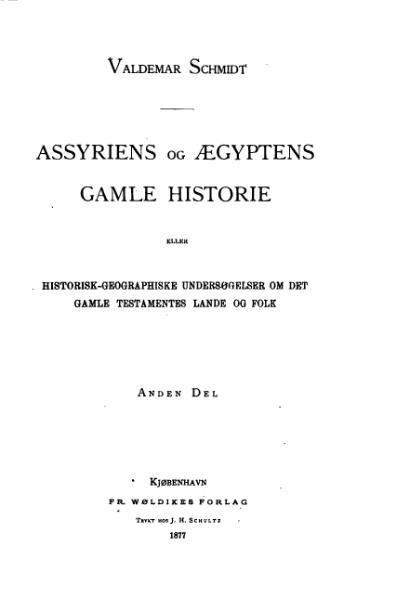 File:Assyriens og Ægyptens gamle Historie.djvu