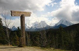 Athabasca Pass - Image: Athabasca Pass sign