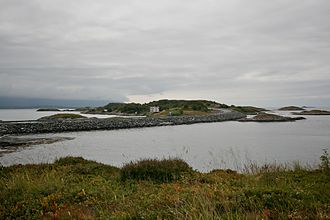 Atlantic Ocean Road - One of the route's causeways
