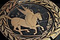 Attic plate with Pegasus, from Greece, 420 BC, Monsters. Fantastic Creatures of Fear and Myth Exhibition, Palazzo Massimo alle Terme, Rome (12836573795).jpg