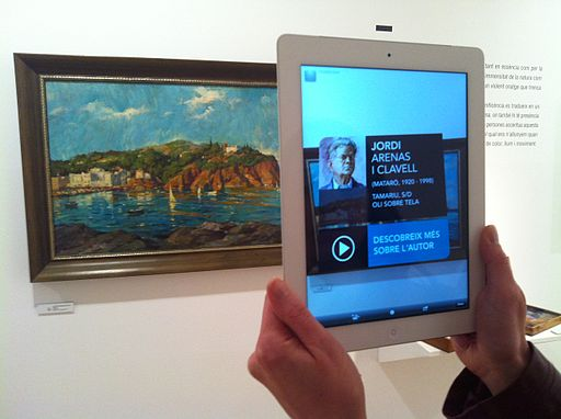 Augmented reality at Museu de Mataró linking to Catalan Wikipedia (18)