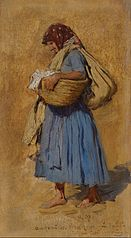 A Farmer's Wife Blowing her Nose