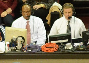 Austin Carr - Austin Carr (left) and Fred McLeod calling a Cleveland Cavaliers game in 2012.