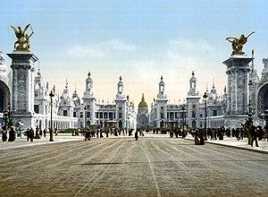 Puente Alejandro III durante su inauguración con motivo de la exposición de 1900