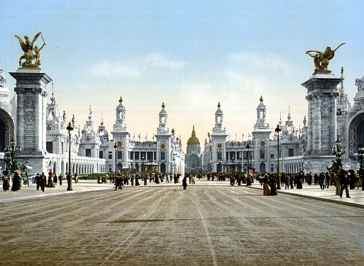 Avenue Nicholas II, looking towards the Dome of the Invalides, Exposition Universal, 1900, Paris, France