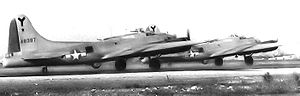 815th Airlift Squadron - B-17G 44-6387 of the 815th Bombardment Squadron was lost on the mission to Ruhland, Germany on 22 March 1945, the bomber being hit first by Flak, then finished off by an Me-262. Eight survived as POWs.