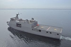 Tarlac-class landing platform dock - BRP Tarlac underway in Manila Bay