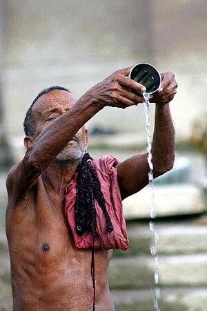 Puja (Hinduism) - Image: Babasteve ganges water