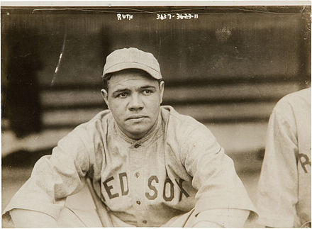 Ruth in 1919 Babe Ruth by Bain, 1919.jpg
