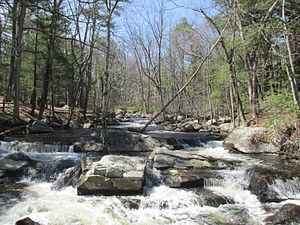 Baboosic Brook - Baboosic Brook in Twin Bridges Park