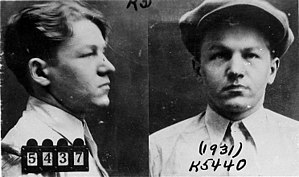 Public enemy - Image: Baby Face Nelson 1931 mug shot