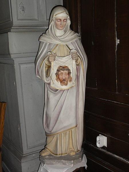 Bachant (Nord, Fr) église statue Ste Véronique