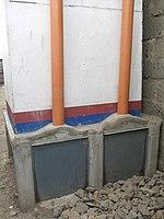 Back view of urine-diverting dry toilet (UDDT) in low-income area Bulbul near Nairobi, Kenya (10543178044).jpg