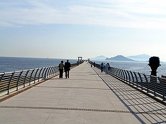 Bagnoli - The converted industrial pier, now a public promenade, in Bagnoli.