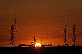 Baikonur Cosmodrome Soyuz launch pad.jpg