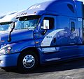Bakersfield, Truck Freightliner cascadia at Flying J Travel Plaza.jpg