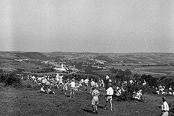 Bakonyjákó község látképe Farkasgyepű felől. Veszprém megye, 1943. Fortepan 72395.jpg