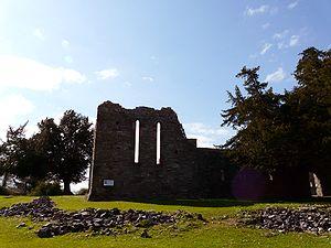 Innisfallen Island - The ruins of Innisfallen Abbey seen from the lake