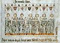 Die sieben Kurfürsten wählen Heinrich von Luxemburg zum König (→ zum Artikel)