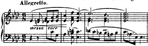 Ballades (Chopin) - Opening bars of Ballade No. 3