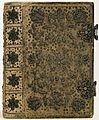 Band van peau de suede, met zilverdraad geborduurd-KONB12-1B3.jpeg