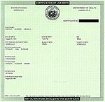 Obama's certificate of live birth