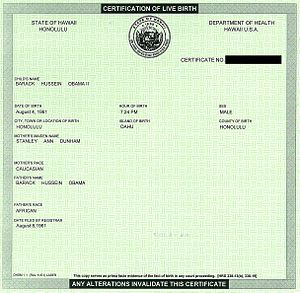 Andy Martin - President Barack Obama's short-form birth certificate