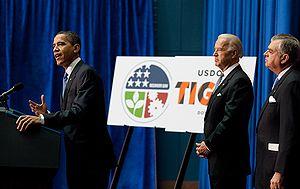President Barack Obama addresses a crowd gathe...