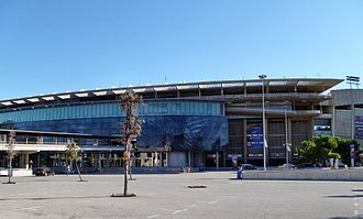 Camp Nou - Main stand external view of the stadium