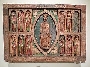 Altar frontal from Santa Maria in Taüll - Image: Barcelona MNAC P1290730