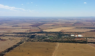Barellan - An aerial view of Barellan in February 2014.