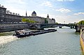 Barges on Seine River, Paris May 2014.jpg