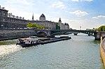 Barges on Seine River, Paris May 2014.jpg