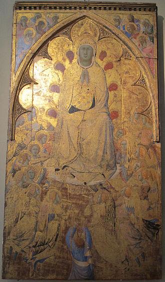 Bartolomeo Bulgarini - Assumption of Virgin altarpiece in Santa Maria della Scala church