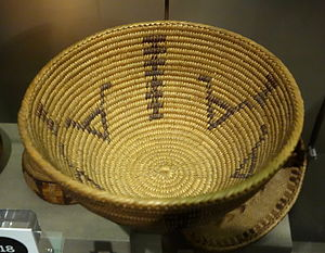 Coast Miwok - Basket made by Miwok at the Oakland Museum of California