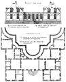 Bastiments v1 (Gregg 1972 p61) - St-Germain-en-Laye river facade and partial plan of the new chateau.jpg
