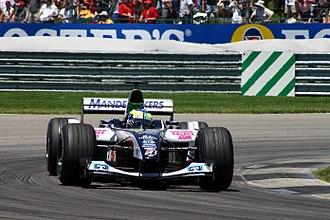 Zsolt Baumgartner - Baumgartner racing for the Minardi F1 team at the US Grand Prix at Indianapolis in 2004