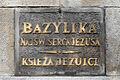 Bazylika Najświętszego Serca Pana Jezusa w Krakowie tablica.jpg