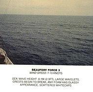 Scala Beaufort, forza 3