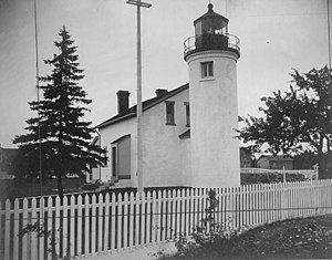 Beaver Island (Lake Michigan) - St. James Light in Beaver Island Harbor, pre-WWII