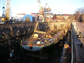 Beckholmen - The GV-dock in 2007.